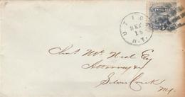 USA - Mi#28-- 3 C Stamp On Small Cover - 1847-99 Emissions Générales