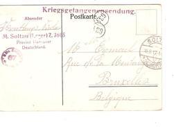 CP PDG-POW Soltau 10/8/1917 Censure Camp 67 C.Lager V.Bxl C.facteurs PR3833