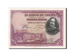 Espagne, 50 Pesetas, 1928, KM:75b, 1928-08-15, SUP - 50 Pesetas