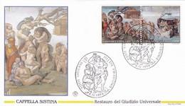 Vatikan, 1994, Sixtinische Kapelle, Abschluss Der Reastaurierung . Mi 1107 - 1114,  4 FDC - Lettres & Documents