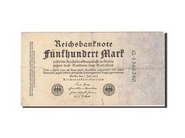 Allemagne, 500 Mark, 1922, KM:74b, 1922-07-07, TTB - [ 3] 1918-1933 : Repubblica  Di Weimar