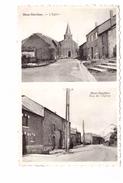 Belgique Mont Gauthier Carte 2 Vues Eglise Et Rue De L' Eglise Carte Rare Timbre + Cachet 1961 - Rochefort
