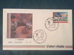 Busta Ufficiale Calcio Italia Campionato Italiano Di Calcio Serie A 1991-92 Inter-Atalanta 24-5-1992 - Storia Postale