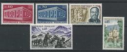 FRANCE       N° Y&T  1598  à  1602  ** - Unused Stamps