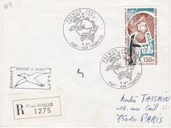 TAAF20 - YT N°37 - 1er Jour - Recommandé - Port Aux Français Le 9 Octobre 1974 - Cartas