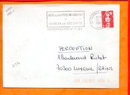 """AIN, Ferney-Voltaire, Flamme à Texte, """"Boite Aux Lettres Normalisée / = / Courrier En Sécurité"""" - Marcophilie (Lettres)"""