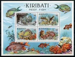 Kiribati, 1985, Reef Fish, Coral, Marine Life, MNH, Michel Block 12 - Kiribati (1979-...)