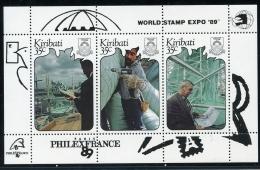 Kiribati, 1989, Philexfrance, World Stamp Expo, Ship Yard, MNH, Michel Block 17 - Kiribati (1979-...)