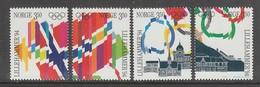 SERIE NEUVE DE NORVEGE - JEUX OLYMPIQUES DE LILLEHAMMER N° Y&T 1100 A 1103 - Winter 1994: Lillehammer