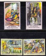 Set MNH  Space Cycle Bicycle Computer Police Elephant  Astronaut Food Swing Games Costume Women Empowerment 2015 India - India
