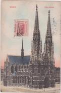 AUTRICHE,OSTERREICH,AUSTRIA,WIEN,VIENNE ,1908,timbre,cathedrale,votiv Kirche - Autres