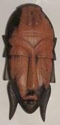 Afrique Orientale Petit Masque Mural 9.50 X 21 Cm Environ 230 Gr - Art Africain