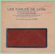Fr20 EMA   G  Cables De Lyon   2.1.47 - Marcophilie (Lettres)