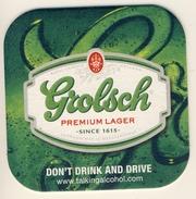 2 SUPERBES SOUS-BOCKS Bierviltje Coaster  GROLSCH   : Ne Pas Boire Et Conduire DON'T DRINK AND DRIVE - Sous-bocks