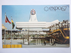 Postcard Expo 67 Montreal Canada Great Britain Pavilion To Wigan Lancashire My Ref B1302 - Exhibitions