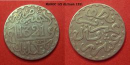 1/2 Dirham Argent Maroc 1321 - Marruecos