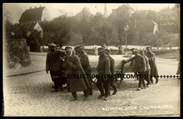 TOP - LAUBAN LUBAN POLOGNE - CARTE PHOTO INEDITE DE PRISONNIERS DE GUERRE ET SOLDATS RUSSES AU TRAVAIL EN 1914 - Guerre 1914-18
