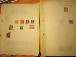 D0886 LOT FEUILLES MONDE A TRIER BELLE COTE DÉPART 10€ - Sammlungen (im Alben)