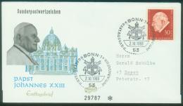 Bund  1969  Papst Johannes XXIII  (1 FDC  Kpl. )  Mi: 609 (1,30 EUR) - [7] Federal Republic