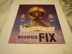 ANCIENNE PUBLICITE  BIJOUX FIX ARMURE D OR 1949 - Bijoux & Horlogerie