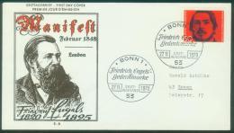 Bund  1970  Friedrich Engels  Stempel: Bonn+Wuppertal  (2 FDC  Kpl. )  Mi: 657 (3,60 EUR) - [7] République Fédérale