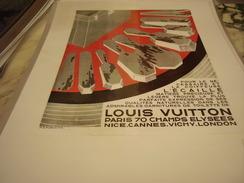 ANCIENNE PUBLICITE  LOUIS VUITTON 1930 - Publicité