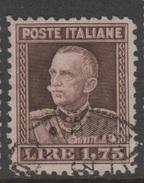 1927 Palmeggiani Effige Vittorio Emanuele III - Usati