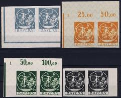 Bayern: Mi Nr 192 U - 195 U In Pairs Stamps Are MNH/**/postfrisch/neuf Sans Charniere - Bayern