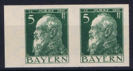 Bayern: Mi Nr 77 P In Pair MNH/**/postfrisch/neuf Sans Charniere - Bayern