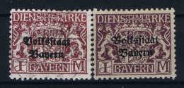 Bayern: Mi Nr 43 Y Gestempelt/used/obl. Dunkel Lila (+42 Y Zum Vergleich) - Bayern