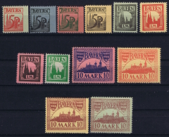 Bayern: 1920 Essays Last Design Of Competition 12 Stamps In Differenent Colours.  Design J. Harscheidt  Grafenwöhr - Bayern