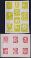 Bayern: 1919 Essays  And Unused Designs In 2 Complete Sheets. - Bayern