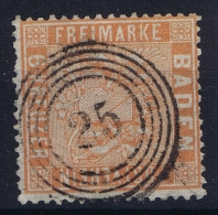 Baden: Mi Nr 11 Gestempelt/used/obl. Circle Cancel Nr 25 - Baden