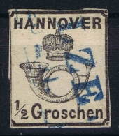 Hannover Mi Nr 17  Gestempelt/used/obl.  1860  Dick Papier