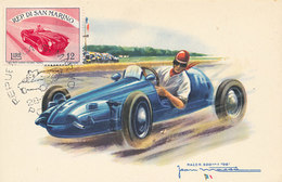 D28235 CARTE MAXIMUM CARD RR 1955 SAN MARINO - RACING CAR CP VINTAGE ORIGINAL - Cars