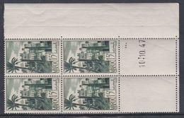 Maroc N° 262 XX Série Courante : 15 F. Vert Foncé Coin Daté Du 10 . 10 . 47 ; 3 Points Verts, Sans Charnière, TB - Unused Stamps