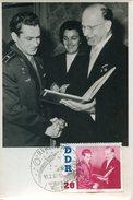 17098, Germany Ddr, Maximum 1962  Titow + Ulbricht  - (photocard)  - Mi-866 - DDR