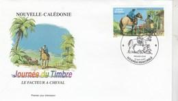 Nouvelle Calédonie FDC Yvert 917 - Journée Du Timbre - Facteur à Cheval - 15/5/2004 - FDC