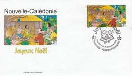 Nouvelle Calédonie FDC Yvert 936 - Noël - 8/12/2004 - Animaux Oiseau - FDC