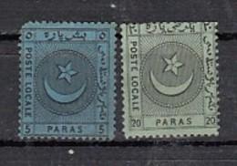 Turquie   Poste Locale Lianos  5 Pa  20 Pa - Turkey