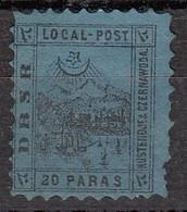 Turquie   Poste Locale Lianos  20 Pa  Noir Sur Bleu (rare) - Turkey