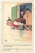 """Cpa Signée Mich - """" à Travers L'humour""""    ((S.1909)) - Mich"""