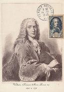 D28253 CARTE MAXIMUM CARD 1949 FRANCE - VOLTAIRE CP ORIGINAL - Scrittori