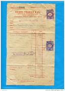"""MARCOPHILIE-2 Timbres Fiscaux 3kr -sur Document De Banque 1925-""""HENRY TEGNER &CO - Fiscali"""