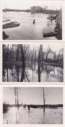 ¤¤  -  Lot De 3 Cartes-Photos Non Situées  -  Inondation , Bord De Fleuve Ou Rivière  -  ¤¤ - Cartes Postales