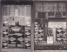 """¤¤  -  Lot De 2 Cartes-Photos Non Situées  -  Devanture De Magasin - Mercerie ? - Publicité """"PANAMOUSSE""""   -  ¤¤ - Cartes Postales"""