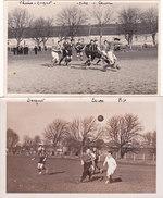 Lot De 2 Cartes-Photos Non Situées  - Match De Football, Sport, Equipe  - Departement Somme ?? - Villers-Bretonneux ?? - Cartes Postales