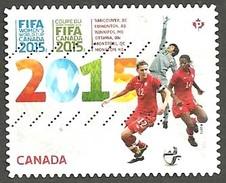 Sc. #2837 FIFA Woman's World Cup Of Soccar Single Used 2015 K493 - 1952-.... Règne D'Elizabeth II