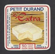 Etiquette De Fromage Carré  -  Petit Durand   -  Laiterie Durand  à  Thiaucourt   (54) - Fromage