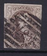 N° 10 A Margé  Perception 187  LANKLAER ( 8 Barres ) - 1858-1862 Medaillen (9/12)